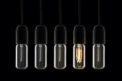 lightbulbs retro obrazy royalty free