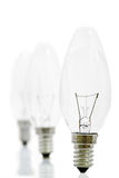 Lightbulbs in a row Royalty Free Stock Image