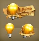 Lightbulbs vector icons Stock Image
