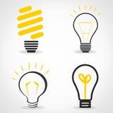 Lightbulbsymbol - uppsättning Arkivfoto