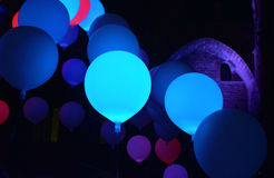 Lighted balloons Stock Photo