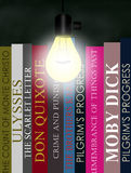 Lighted Bookshelf Royalty Free Stock Photo