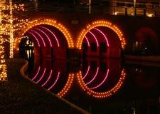 Lighted Bridge Stock Photo