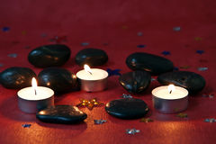 Lighted candles Royalty Free Stock Image