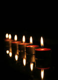 Lighted Candles Royalty Free Stock Photos