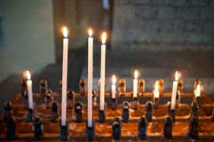 Lighted candles Stock Images
