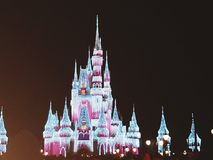 Lighted castle Royalty Free Stock Images