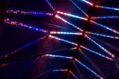 Lighted Ceiling. Fun patterns and geometric shapes add to this ceiling stock photos