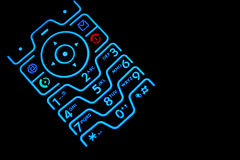 Lighted Cell phone keypad Royalty Free Stock Photos