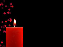 Lighted Christmas Candle Royalty Free Stock Images