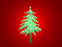 Lighted christmas tree stock images