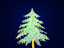 Lighted christmas tree Stock Image