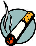 Lighted cigarette vector illustration. Vector illustration of a lighted cigarette Royalty Free Stock Photo