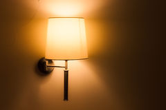Lighted classic lamp Stock Photo