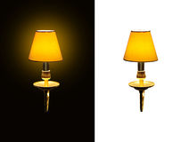 Lighted classic sconce Royalty Free Stock Images