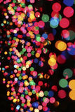 Lighted color bubbles. Intentional blur of different color Christmas lights to make it look like bubbles Royalty Free Stock Photography