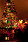 Lighted decorated Christmas tree Royalty Free Stock Photography