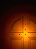 Lighted door Royalty Free Stock Images