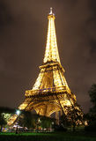 Lighted Eiffel tower Royalty Free Stock Image