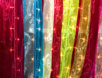 Lighted Fabric Textures Royalty Free Stock Image