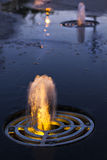 Lighted fountain Stock Photography