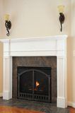 Lighted Gas Fireplace Stock Photography