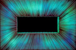 Lighted Green, Aqua, and Blue Curtains draped in a rectangular p stock images
