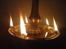 Lighted lamp. During festival time like vishu Royalty Free Stock Photo