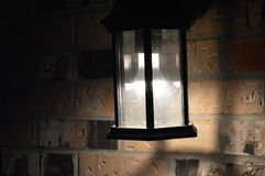 Lighted lantern in the night 2 Royalty Free Stock Photo