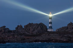 Lighted lighthouse Royalty Free Stock Photos