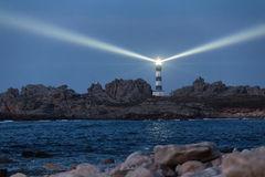 Lighted lighthouse Royalty Free Stock Photo