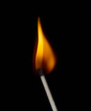 Lighted match Stock Photos