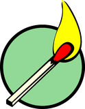 Lighted match vector illustration Royalty Free Stock Photo