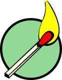 Lighted match vector illustration. Vector illustration of a lighted match Royalty Free Stock Photo