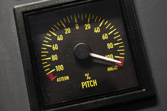 Lighted navigation pitch indicator scale Stock Photos