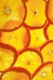 Lighted orange Royalty Free Stock Photography