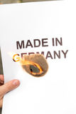 Lighted paper made in germany Stock Photos