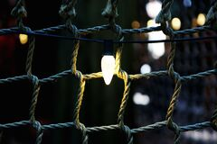 Lighted Rope Stock Photography