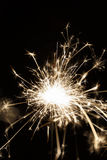 Lighted sparkler on a balck background (soft focus) Stock Photo
