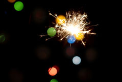 Lighted sparklers. Royalty Free Stock Photography