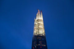 Lighted spire of the Shard in London Stock Images