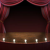 Lighted stage background. Music,comedy or performing arts concept with room for text or copy space advertisement. Part of a stage concept series Stock Image