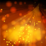 Lighted stage with sparkles Royalty Free Stock Photography