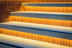 Lighted Stairs Royalty Free Stock Images