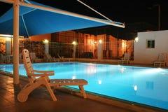 lighted swimmingpool Στοκ Φωτογραφίες