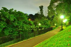 Lighted walkway at Kent Ridge Park Stock Photos