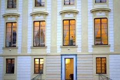 Lighted windows Prague Castle Royalty Free Stock Image
