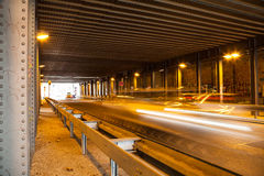 Lighteffect in tunnel Stock Photography