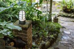 The lighten conner. Walkway in the garden Stock Photography