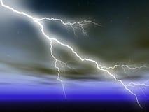Lightening. Illustration of striking lightenings in the sky Royalty Free Illustration